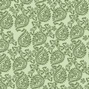Inprint Indian Spice Market - 4510 - Green Paisley - 2018 G60 - Cotton Fabric
